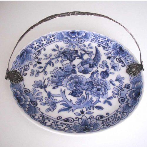 'Bonbonschaaltje met zilveren hengsel', 21 cm