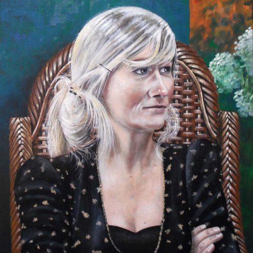 'Roosje', olieverf, 50x70 cm